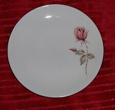Vtg Porcelain Johann Haviland Single Stem Pink Rose Dish Germany Dessert Plate