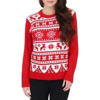 Blueberi Boulevard Women's Fair Isle Holiday Print Ugly Christmas Sweater