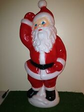 "HTF  Christmas 41"" Dancing Santa Lighted Blow Mold Yard Decoration General Foam"