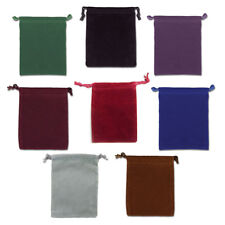 """Set of 8 Velveteen Mojo Bags 3"""" x 4"""" - One in Each Color! Drawstring Pouch Bag"""