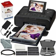 Canon SELPHY Cp1300 Compact Photo Printer (black) With WiFi and Accessory Bundle