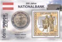 2 Euro Coincard / Infokarte Österreich 2016 Nationalbank