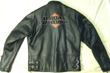 Harley-Davidson MIDTOWN Embroidered Leather Race Patch Jacket 97071-06VM MEDIUM