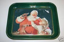 Vintage 1983 Coca Cola  Santa Claus Advertising Tray Coke Christmas Cookies