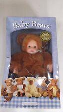 VINTAGE* RARE* Anne Geddes Baby Bears  Stuffed Plush Doll 1997