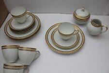 Hutschenreuther Charmant Kaffeeservice 5 Personen Weiß mit Goldrand 17 Teile