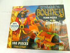 MELISSA & DOUG #4402 PIRATE'S BOUNTY FLOOR PUZZLE 100PC 2' X 3' - NEW SEALED!