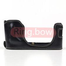 Leather Half Case Cover Grip Bottom Protector For FUJIFILM Fuji X100 X100T X100S