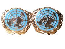 United Nation Cufflinks Blue