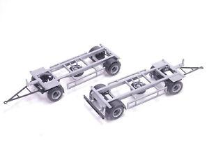 1:87 EM1115 2x Bausatz für WP Anhänger in silber Herpa für Umbau Eigenbau