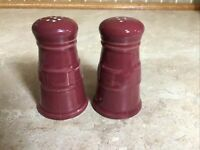 Longaberger Pottery Woven Traditions Paprika Red 1 set Salt & Pepper Shakers
