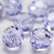 12 Swarovski Element 5000 8mm Faceted Round Balls Bead Crystal PROVENCE LAVENDER