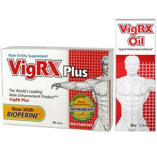 VigRX PLUS Pills + VigRX OIL Gel Cream BIG HARD THICK ENLARGEMENT BEST Male Mens