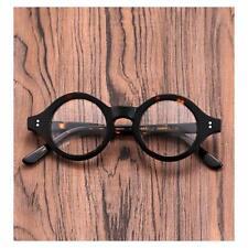 40mm HANDMADE Vintage Round Glasses Tortoise Optical Eyeglasses Frames