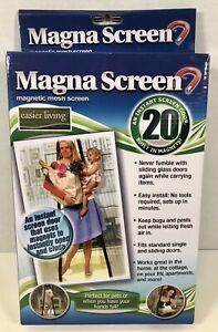 Magna Screen Door 20 Magnets Magnetic Magic Hands Free Mesh Bug Flies Mosquitos