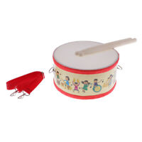 1 Set Snare Drum Small Musical Instrument W/ Sticks Kids Early Learning Toys