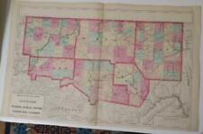 New ListingOrig. 1872 Hand-Colored Map,Warren,Mckean,Potter, Forest,Elk,Cameron Counties Pa