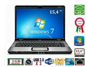 PC PORTATILE HP PAVILION INTEL DUAL CORE 1,80 GHZ 3 GB RAM WIFI+WEBCAM WINDOWS 7