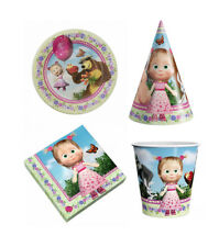 PARTY SET, cups, plates, napkins Masha and the Bear holiday dishes for holiday