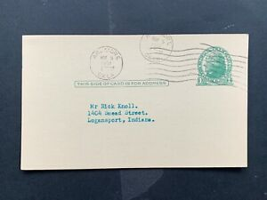 1951 ARDMORE OKLAHOMA POSTAL CARD INDIAN LETTER BASEBALL +! MACHINE CANCEL L@@K!