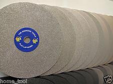 "8"" INCH Grit 500 Diamond coated Flat Lap wheel Lapidary grinding polishing disc"