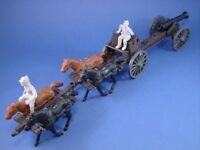 CIVIL WAR TOY SOLDIERS Playset Confederate Limber Cannon CTS Set FREE SHIP