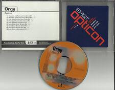 ORGY Opticon 9 tracks w/ ULTRA RARE MIXES & DUBS RADIO PROMO DJ CD single 2001