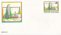 UNITED NATIONS 1989 25c PRE PAID ENVELOPE SMALL MINT NEW YORK