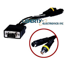 PC 15 Pin VGA Male to TV S-Video/RCA Female AV OUT Adapter Cable Yellow