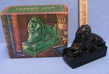 Vintage Avon Classic Lion Glass Decanter in Box Deep Woods After Shave 8oz Size