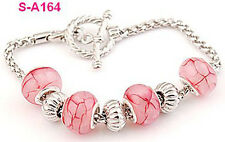 handmade Dragon vein European charm beaded bracelet spacial lobster clasp S_A164