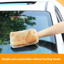 Hot ! 1pcs Soft Double-sided Plush Mitten Care & Cleaning Universal 22x17cm