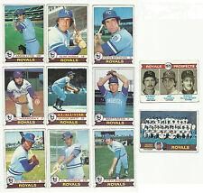 VINTAGE 1979 TOPPS BASEBALL CARDS – KANSAS CITY ROYALS – MLB