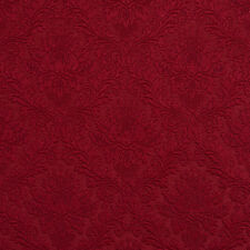 E540 Red, Floral Durable Jacquard Upholstery Grade Fabric By The Yard