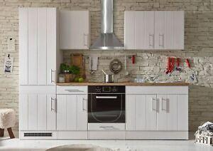 Küche Landhaus Küchenblock Küchenzeile 270cm Singleküche Landhausstil weiß