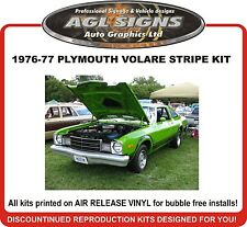 1976 1977  PLYMOUTH VOLARE  Reproduction Stripe package  Customize