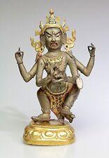 Belle tibetano cinesi DORATI Bronzo MAHAKALA-XVIII XIX secolo