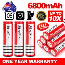 2/ 6/ 18x BRC 18650 6800MAH 3.7V Rechargeable Lithium Battery Li-ion Batteries