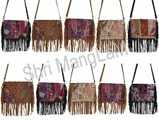 Wholesale lot of 10 Sling Bags INDIAN VINTAGE CLUTCH PATCHWORK  PURSE BANJARA.