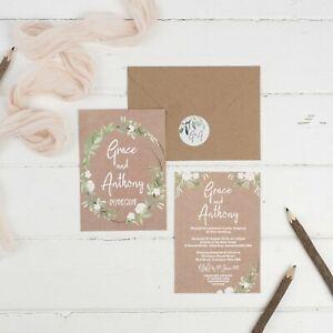 Kraft Meadow Wedding Invitations (Bespoke Listing)