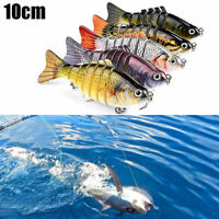 5PCS 7Segment Multi Jointed Fishing Lures Fishing Bait Crankbait Hooks Swimbait#