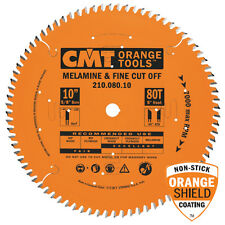 "CMT 210.080.10 Industrial Melamine & Fine Cut off 10"" Tablesaw Blade 80 Tooth"