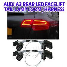 Audi A3 8P sport arrière facelift feu LED adaptateur boucle harnais feux