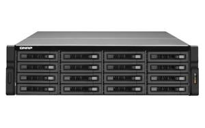 QNAP TS-1679U 1x i3-3220 2x PSU 16x LFF NAS STORAGE ENCLOSURE 16 Caddies