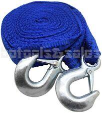 2' x 20 Feet Nylon Web Tow Strap Rope 2 Hooks 6,500 lbs 4 Towing Cars Trucks HD
