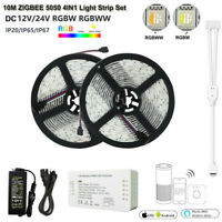 ZIGBEE Led Controller 5050 RGBW RGBWW 12/24V 4in1 Stripe Streifen Band+Netzteil