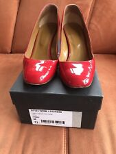 "HOBBS ""carla Square Court Shoe"" Red Patent Leather Size 5(38)"