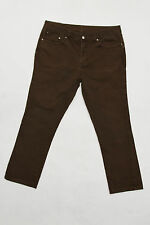 CONTE OF FLORENCE Vintage Donna Jeans in Denim Marrone Straight Fit I54 W38 SLIM