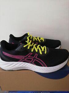 UK 7.5 (EU 41.5) Asics Gel Excite 8 Blk/Hot Pink Wmns Road Running Gym Shoes