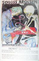Horst Janssen Schloß Arolsen handsigniert Kunstdruck G-5365